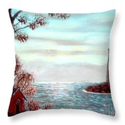 Lighthousekeepers Home Throw Pillow
