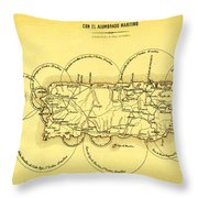 Lighthouses In Puerto Rico 1900s Throw Pillow