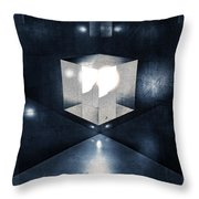 Lighting In Cube Throw Pillow