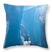 Lighting In Nigardsbreen Glacier Grotto 1 Throw Pillow