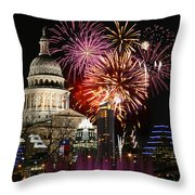 Lighting Up Austin Throw Pillow