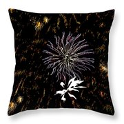 Lighting Up The Sky Throw Pillow
