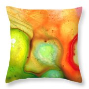 Lightness Of Being Abstract Art By Sharon Cummings Throw Pillow