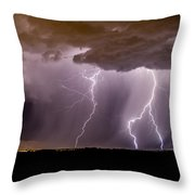 Lightning 11 Throw Pillow