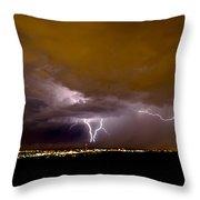 Lightning 13 Throw Pillow