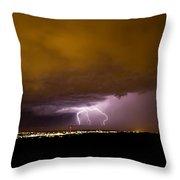Lightning 16 Throw Pillow