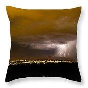 Lightning 17 Throw Pillow