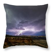 Lightning 32 Throw Pillow