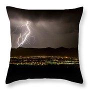 Lightning 4 Throw Pillow