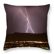 Lightning 5 Throw Pillow