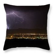 Lightning 6 Throw Pillow