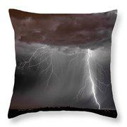 Lightning 8 Throw Pillow