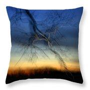 Lightning Branches Throw Pillow