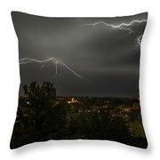 Lightning Crashes Throw Pillow