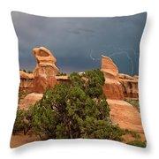 Lightning Devils Garden Escalante Grand Staircase Nm Utah Throw Pillow