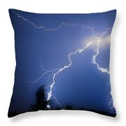 Lightning In Montrose Colorado Throw Pillow