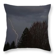 Lightning Over Grants Pass Throw Pillow