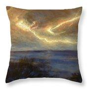 Lightning Storm Throw Pillow