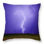 Lightning Strike Throw Pillow