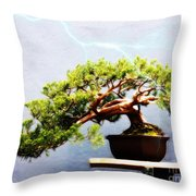 Lightning Strikes Again Throw Pillow