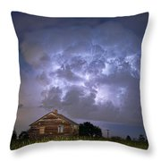 Lightning Thunderstorm Busting Out Throw Pillow
