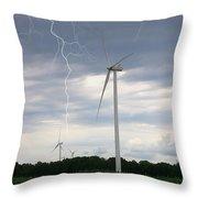 Lightning Turbine Throw Pillow