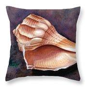 Lightning Whelk Throw Pillow