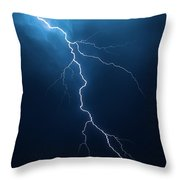 Lightning With Cloudscape Throw Pillow by Johan Swanepoel