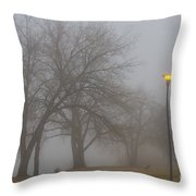Lights And Fog Setting The Mood Throw Pillow