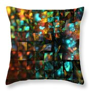 Lights And Fractures Throw Pillow