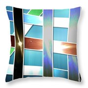 Lights And Strips Throw Pillow