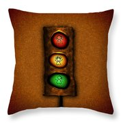 Lights At The Crossing Throw Pillow by Gianfranco Weiss