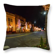 Lights Down Fairhope Ave Throw Pillow