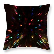 Lights In Motion Throw Pillow