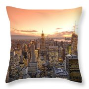 Lights In The Sunset Throw Pillow