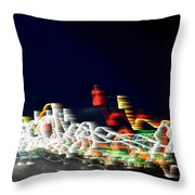 Lights In The Wind II Throw Pillow