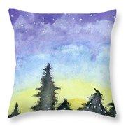 Lights Of Life Throw Pillow