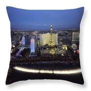 Lights Of Vegas Throw Pillow