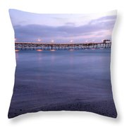 Lights On The Pier Throw Pillow