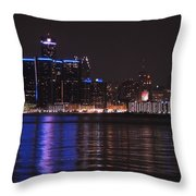 Lights On The Water Throw Pillow