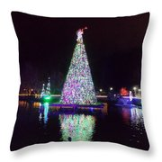 Lights On The Water Throw Pillow by Regina McLeroy