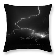 Lights Over The Gulf Throw Pillow by David Lee Thompson