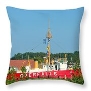 Lightship Overfalls Throw Pillow