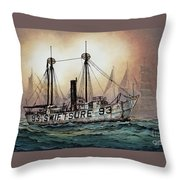 Lightship Swiftsure Throw Pillow