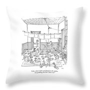 Like A Duck. Calm And Placid On The Surface Throw Pillow