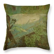 Like A Fish Out Of Water Throw Pillow