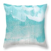 Like A Prayer- Abstract Painting Throw Pillow by Linda Woods