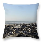 A Trees Boneyard Throw Pillow