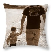 Like Father Like Son Throw Pillow