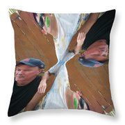 Like Father Like Son Twisted Throw Pillow
